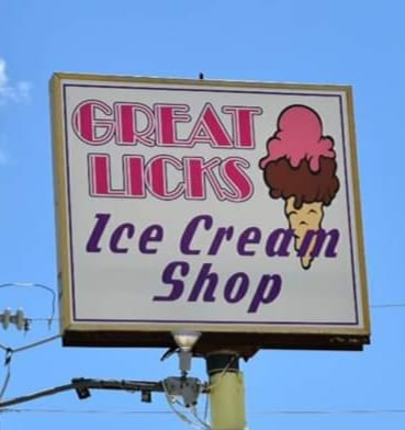 Great Licks Sign